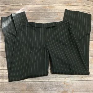 Bebe black and white pinstripe trouser pants